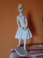 Nagyméretű Unterweisbach porcelán szobor (sérült) 24 cm magas
