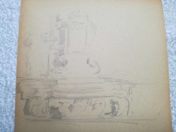 Benczúr Ida -1876 - 1970 - ceruza rajz