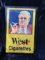 West cigaretta fém tábla