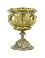 0Z066 Antik sárgaréz egyházi kupa 14.5 cm