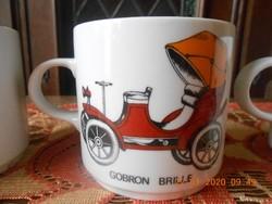Alföldi porcelán autós bögrék