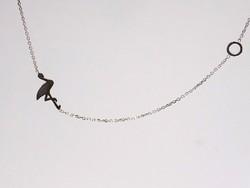Ezüst lánc flamingó medállal (ZAL-Ag79317)