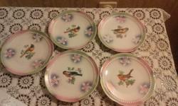 Orla madaras süteményes tányérok - 5 db