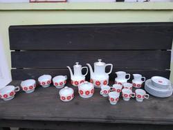 Retró Hollòházi  kávès ès teás készlet egyben