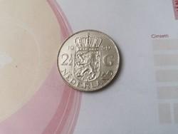 1959 2 és 1/2 holland ezüst gulden 15 gramm 0,720