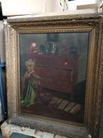 Juszkó Piroska enteriőr festmény