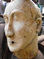 Ritkaság Eredeti öntöttvas szobor fej Nagy vas méretarányos db