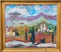 Molnár C Pál festmény: Itáliai táj