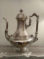 Gyönyörű francia ezüst kávés kanna