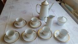 Antik porcelán kávéskészlet eladó! Epiag 6 személyes