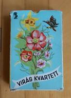 Virág kvartett kártya pakli