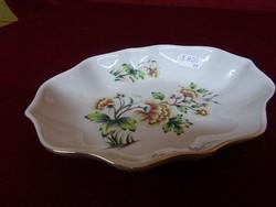 Hollóházi porcelán asztalközép, mérete 18 x 13,5 cm.
