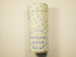 Retro Kék Fehér Baba hintőpor papír doboz - KHV Kozmetikai és Háztartásvegyipari Vállalat - 1970-es