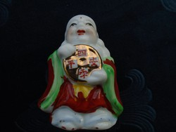 Régi kis Keleti Bölcs ,porcelán kézzel festett szobrocska