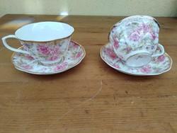 2 db Német porcelán csésze aljjal