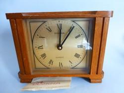 Ritka,gyönyörű állapotú Dugena asztali óra eredeti blokkal