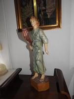 Óriási fafaragás - festett faragott szobor - 70 cm!
