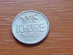 NORVÉGIA 10 ŐRE 1971 MÉH