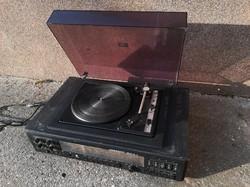 Tesla Moderato 1037A-1 régi rádió, lemezjátszó