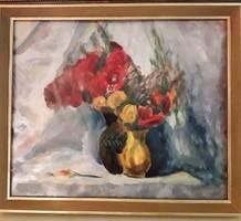 Galimbertiné Dénes Valéria: Virágcsendélet