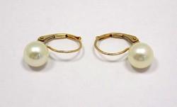 Gyöngyös arany fülbevaló (ZAL-Au80528)