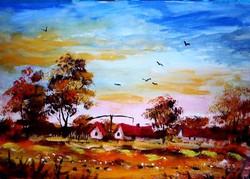 Neves magyar alkotó csodaszép  festménye