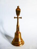 Antik sárgaréz asztali csengő,cselédhívó