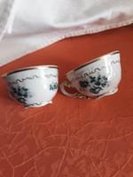 Zsolnay  mokkás   csészék   párban    5000   ft