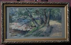 Gerhardtné erdei ösvény akvarell festmény
