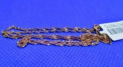 Gyönyörű csavart mintás vörös aranyozott ezüstnyaklánc új.