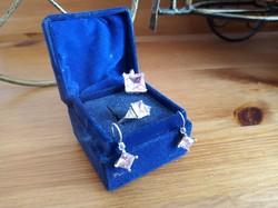 Ragyogó ezüst szett (rózsaszín medál, gyűrű, fülbevaló)