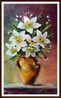 Hófehérek virágzása ( 50 x 30, olaj, festőkéses )