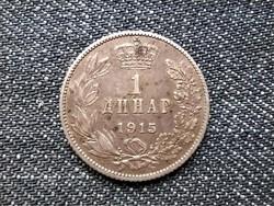 Szerbia I. Péter (1903-1918) .835 ezüst 1 dínár 1915 / id 16316/