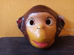 Régi papírmasé farsangi maszk - majom -