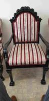 Neobarokk oroszlánkörmös trón szék 1db