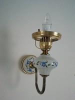 Lengyel porcelánbetétes falikar