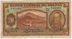 20 bolivianos 1928 2. kiadás (1951) Bolivia