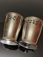 Mesés antik ezüst pohár (2 db)