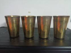 4 darab csodaszép régi réz pohár egyben eladó