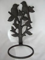 Madaras öntöttvas fali virágtartó