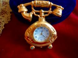 Tömör miniatűr asztali japán óra_nagyon igényes Gyűjtői darab!!