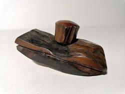 Régi fa tapper tinta itató íróasztali kellék (285)