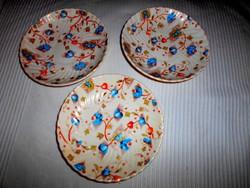 3 db porcelánfajansz   tányér