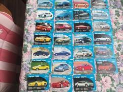 19 db autós kártya