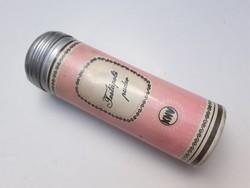 Retro KHV púderes fémdoboz Női Testápoló Púder