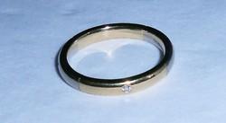 18 kt arany fehérarany karika gyűrű jegygyűrű gyémánt kövekkel