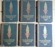 TOLNAI A VILÁGHÁBORÚ TÖRTÉNETE 1914-1918 II , IV , V , VI , VII , VIII kötetek KIVÁLÓ ÁLLAPOTBAN