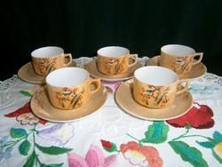 Eredeti Japán szakés vagy kávés készlet, tojáshéj porcelán