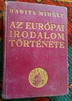 Babits Mihály:Az európai irodalom története/Nyugat kiadás