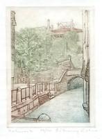 Rékassy Eszter - Velence III. 15 x 10 cm színezett rézkarc